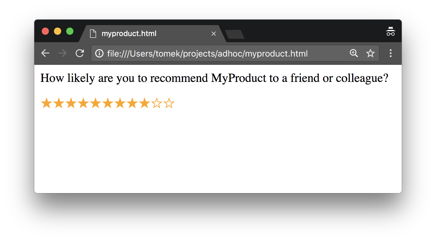 How likely are you to recommend MyProduct to your friend or colleauge?