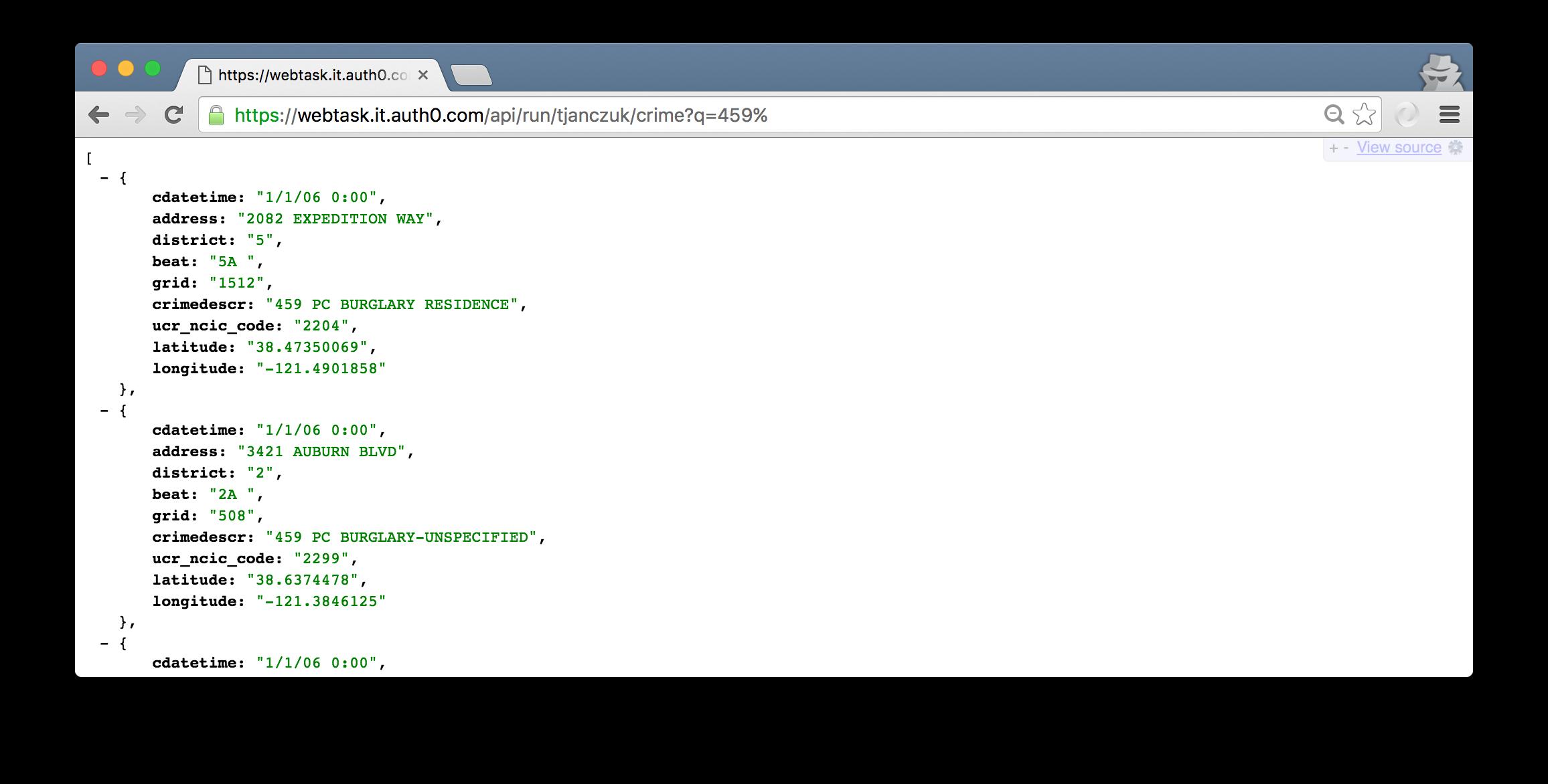 Serverless MySQL with Auth0 Webtasks